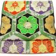 『龍村美術織物』 袋帯 「亀甲牡丹」