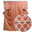 絞り紬 漢方染め 横段文様 トールサイズ
